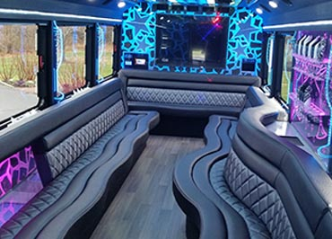 Bachelor Party Bus Interior