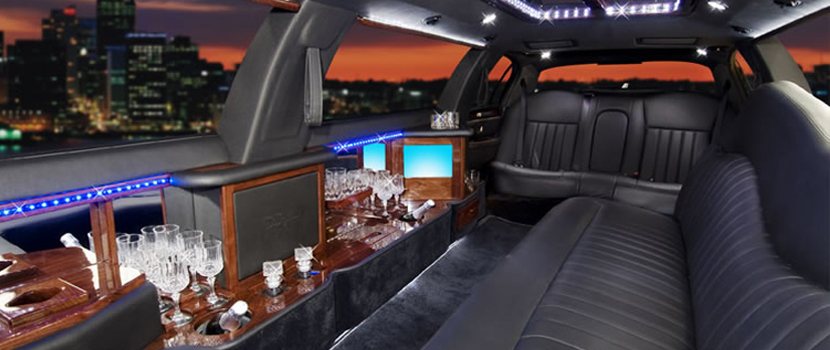12 Pax White Hummer Limo Interior