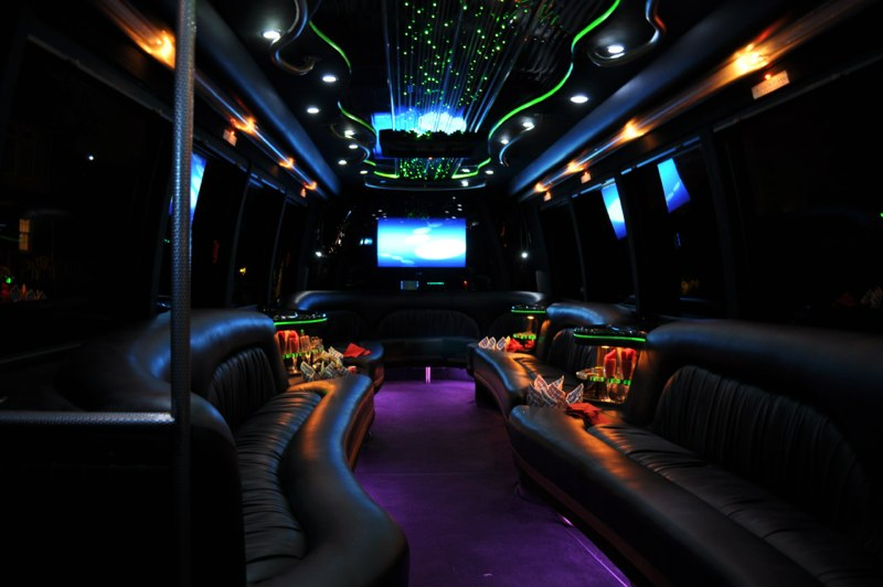 interior bachelor party bus philadelphia
