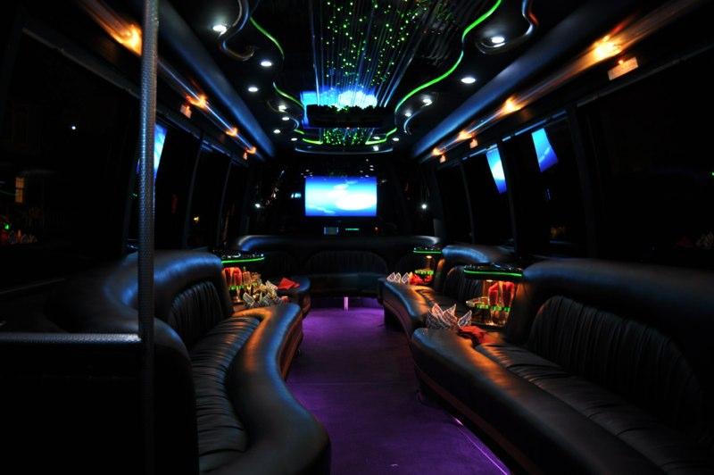 Interior Bachelor Party Bus Philadelphia