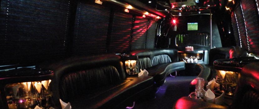 34 Passengers Party Bus Interior