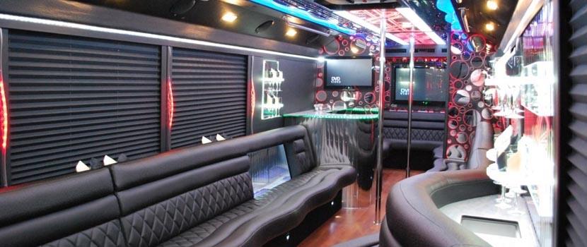 42 Passengers Party Bus Interior